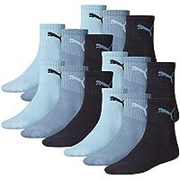 Puma Unisex Short Crew calzini calzini sportivi con suola in spugna 15Pack, Unisex, blu navy, misura 47-49