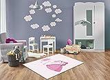 Keymura Moderner Teppich mit schönem Druck/Design Prinzession Einhorn | Größe: 120x170 cm - Qualität, Design, Modern zu einem Hammerpreis! Für Kinderzimmer, Wohnzimmer, Flur, Schlafzimmer geeignet!