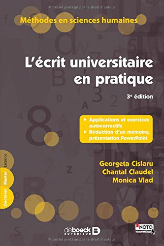 L'écrit universitaire en pratique par Georgeta Cislaru
