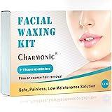 Cire pour épilation du visage pour femme, kit de cire épilatrice pour le visage, poils de cire dure pour épiler les poils du visage, idéal pour les poils de la lèvre des joues les sourcils