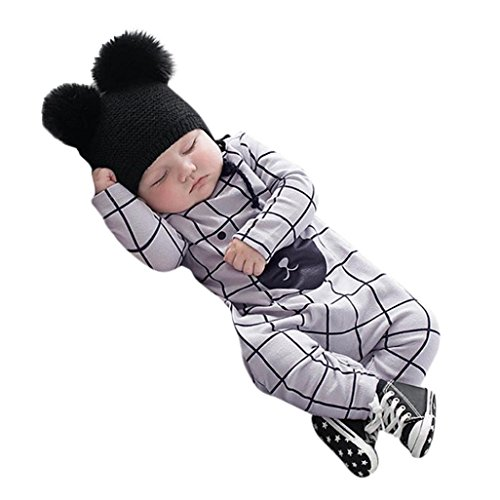 KaloryWee Newborn Baby Grows Romper Jumpsuit Long Sleeve Pajama Clothes