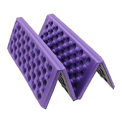 GGG Foldable Foam Waterproof Chair Cushion Seat Pads Moisture Seat Cushion XPE Mat Pad Garden Camp Picnic Travel Z-Seat - Color: Purple Test