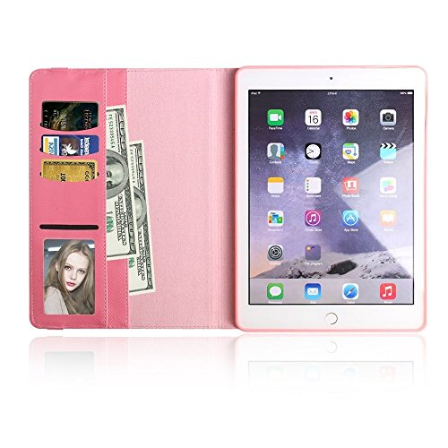 iPad Mini 4 Hülle, elecfan® 360 Grad rotierende Schutzhülle Auto aufwachen / Schlaf Funktion und Einstellbarem Blickwinkel Funktion Schutzhülle für iPad Mini 4 (iPad Mini 4, Rot) Rosa