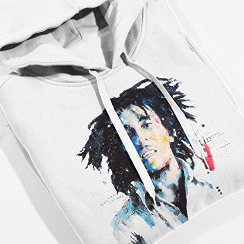 Sidney Maurer Bob Marley Portrait Official Women's Hooded Sweatshirt White