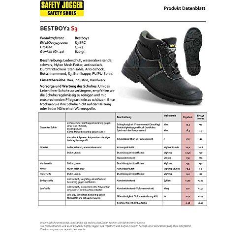 Safety Jogger Herren Sicherheitsschuh Bestboy2 | S3-S1P | SRC Schwarz