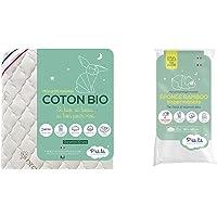 P'tit Lit - Matelas Bébé Coton Bio - 60x120 cm - 100% Coton : matière Naturelle d'origine Végétale & Matelas Bébé…