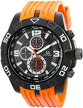 Joshua & Sons Herren Armbanduhr Analog Display Swiss Quarz orange