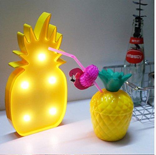Veilleuse - Panneau Lumineux LED / Lampe Pinacolada - Lampe veilleuse Ananas Jaune (ananas)