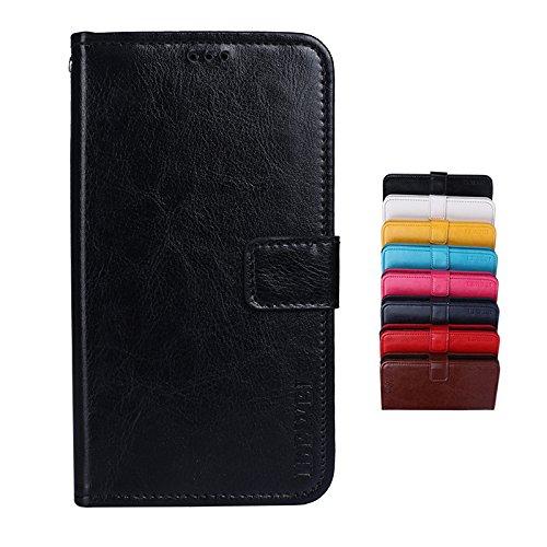 SHIEID® Ulefone Power 3S Brieftasche Hülle PU+TPU Kunstleder Handyfall für Ulefone Power 3S mit Stand Funktion EIN Stent-Funktion (Schwarz)