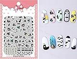 Arte de uñas: Calcomanías y autoadherentes Calcomanía Transferible con Agua Panda Pegatina Tatuaje para Uñas Nail Sticker - FashionLife
