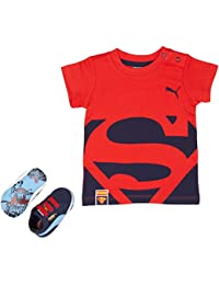 Puma Crib Pck Superman 2 - Zapatillas de Deporte de Otra Piel Unisex Niños