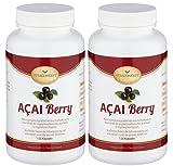 SPAR-PACK - 2x ACAI Berry ACAI Berry 48000 mg plus Vitamin C * Das Original aus...