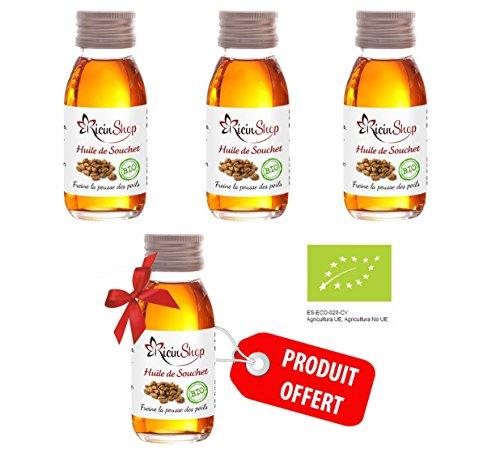 Huile De Souchet Bio 60 ml - Lot de 4 (1 offert) 100% Pure et NaturelleManelya