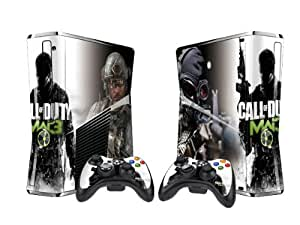 Pacers Call of duty 8 modern warfare 3 Protector Skin Decal Sticker for Xbox 360 Slim (1 piece for the game console & 2 pieces for 2 controllers)
