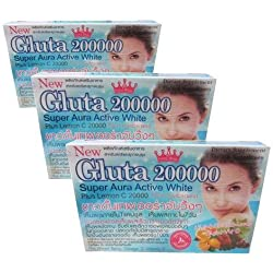 3 x Gluta 200000 Mg Softgel L-Glutathione VIT C Mix Berry Vitamin E