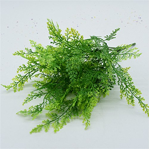 Mackur Kunstpflanze Farn Gras Blumenstrauß künstliche Pflanzen Ornamente für Zuhause Hochzeit Party Garten Indoor Decor