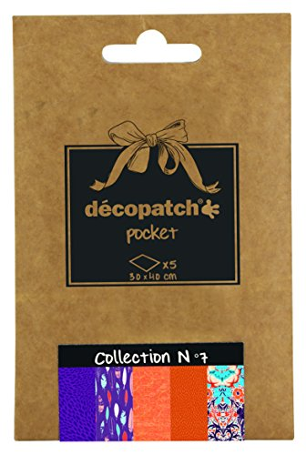Decopatch Tasche Nr. 7 mit 5 verschiedenen Papieren (Mw Tasche)