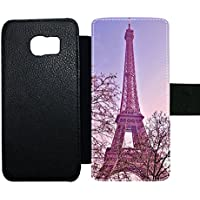 Card Slot Slim Phone Cases For Guy Have With Eiffel Tower For S6 Edge