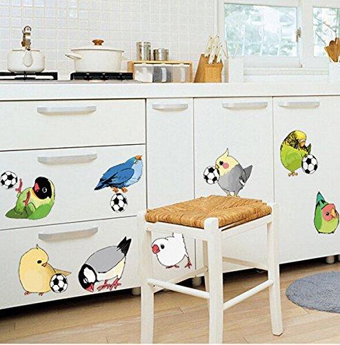 rgarten Schule Klassenzimmer Korridor Sticky Birds Spielen Fußball Kinder Haus Wandaufkleber Kann Entfernt Werden ()