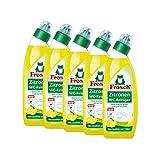 5x Frosch Zitronen WC-Reiniger 750 ml - Kalklösend mit Zitrone