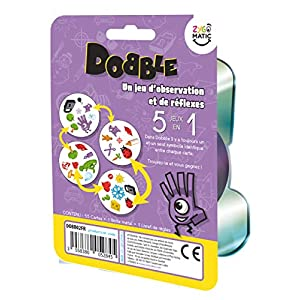 Asmodée- Dobble Classic Blister, Color jeu d'ambiance (DOBB02FR) – Idioma Francés