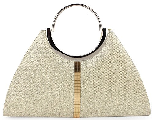 ADISA CL005 gold formal women girls clutch