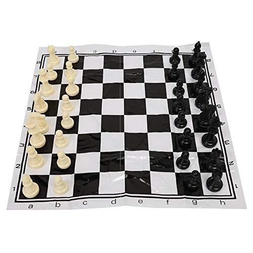 Alomejor Turnier Schachspiel Set Faltbares Schachbrett International