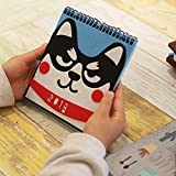 babasm Creative Karton Doggy Muster Desktop Flip Kalender Monat zu View Stand Up Office Home Tisch Planer Kalender Notebook (blau)