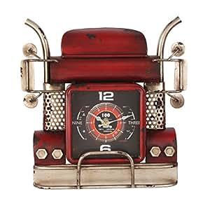 mph molto grande metallo Art Vintage Rosso Trucking con orologio al quarzo