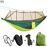 Specifications: A very useful double hammock for two people. Made of durable fabric, sturdy and strong, with large bearing capacity. Comes with mosquito net, protect you and your family from flies, mosquito, insects, etc. The mosquito net can be s...