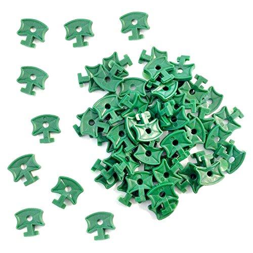 Clips de serre en plastiques, clips de fixation pour filet d'isolation de serre en aluminium, 100 pièces