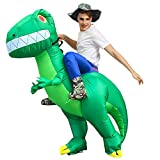 Glomixs Ride On Dinosaur Costume Inflatable Blow Up Suit, Inflatable Scary Funny Blow Up Suit...