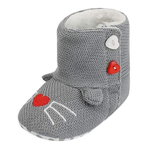 Bild von cinnamou MiniFeet Premium Weich Leder Babyschuhe Baby-Karikatur-Warmer Winter-erste Wanderer-weiche Sole Boot Shoes