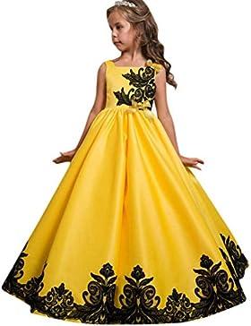 Abito ragazza senza maniche ricamato Abito gonna senza maniche Abito bambina con fiori Vestito da sposa per bambini...