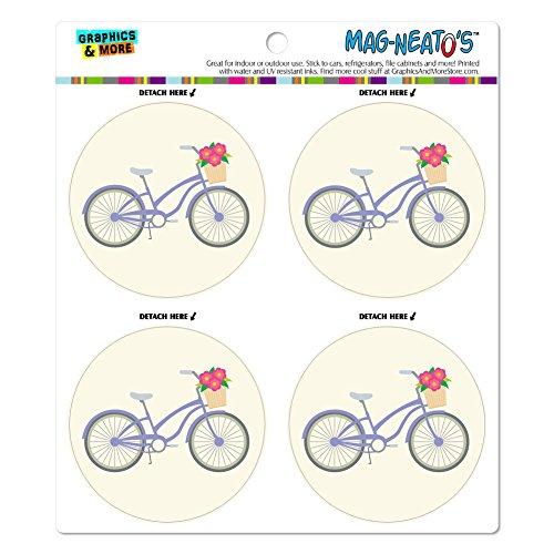Vinyl-korb (Fahrrad mit Korb der Blumen Mag-Neato 's-TM) Automotive Car Kühlschrank Locker Vinyl Magnet Set)