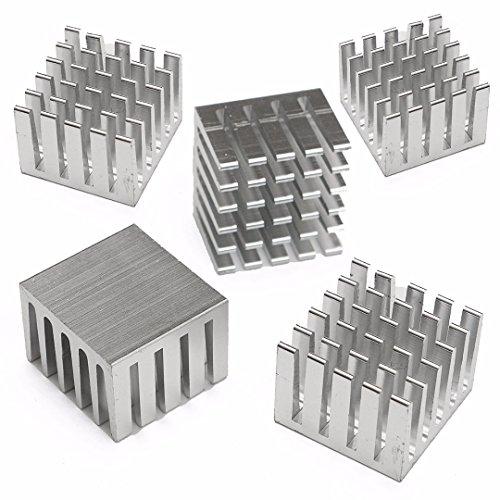 Aluminium Kühlkörper Extruded Kühler für Elektronik,Computer,Elektrische Anlagen, 20 x 20 x 15mm