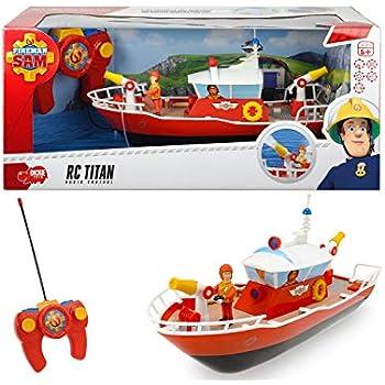 Dickie toys 203099621 radiocommand bateau sam le pompier titan jeux et jouets - Bateau sam le pompier ...