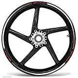 MV Agusta RIVALE adesivi ruote interno strisce cerchi decalcomanie strip cerchioni Cod 010 Bianco 0299
