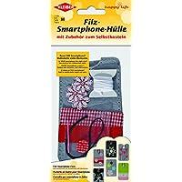 Kleiber - Kit smartphone in feltro per bambini fai da te palloncini a forma di cuore 15 x 7,5 cm
