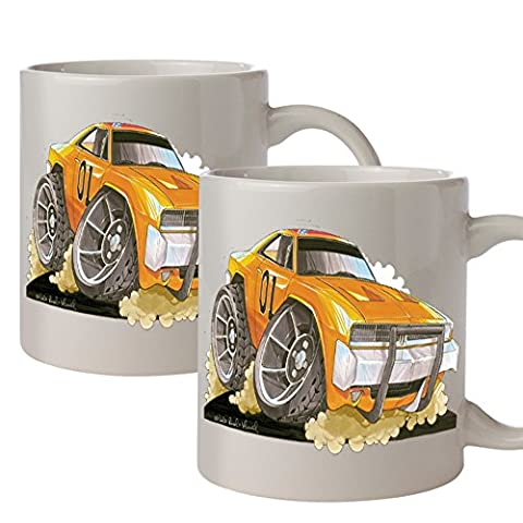 Koolart Ultimate Cartoon Dukes of Hazzard Coffee Mug Twin Pack...Home