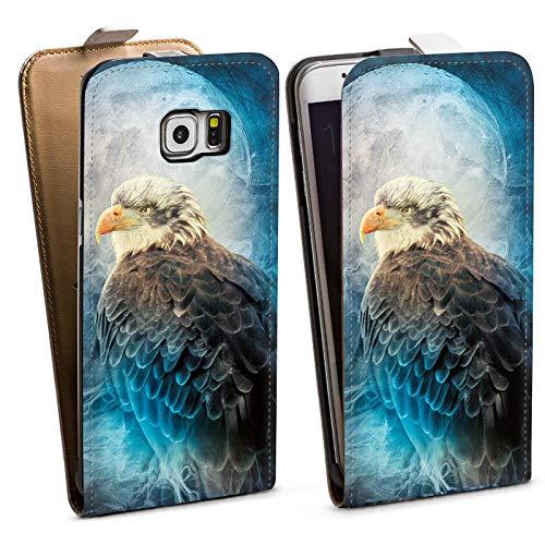 DeinDesign Tasche kompatibel mit Samsung Galaxy S6 Edge Plus Flip Case Hülle Adler Nacht Tiere