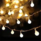 SHHE Fairy Lights Battery Powered String Lights 10M 80 LED 2 Modes Battery Operated Decorative Lights for Christmas Party Indoor Outdoor Use(Warm White)