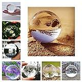 ALTERDJ Glaskugel Fotografie,Glaskugeln klar Kristallkugeln für deko/Fotografie/wahrsager/Meditation/murmeln/Feng Shui/Hause/Büro (80CM) …