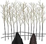 Kare Design Wandgarderobe Bush, Garderobenhaken, Wandhaken, Garderobenleiste, Garderobenpaneel, Gold-Schwarz (H/B/T) 82,5x89x9cm