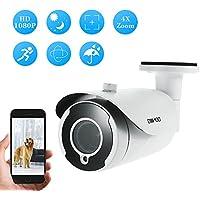 "OWSOO 1080P AHD Cámara Bala de Vigilancia CCTV, 2.0MP, 3.6mm, 1/2.9"" CMOS, 2.8-12mm, Auto-foco, 18pcs Array IR LED Visión Nocturna IR-CUT, Interior/Exterior Impermeable, PAL Sistema"