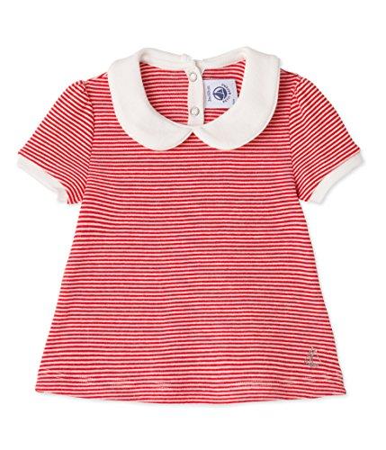 Petit Bateau Baby - Mädchen Blusen Blouse MC_23850 23850, Gestreift, Gr. 80 (Herstellergröße: 12m/74cm), Mehrfarbig (peps/lait 25)