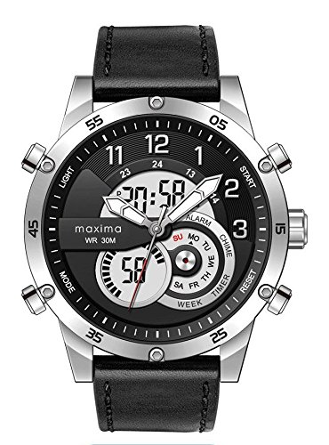 Maxima Analog-Digital Black Dial Men's Watch-51690LAAN