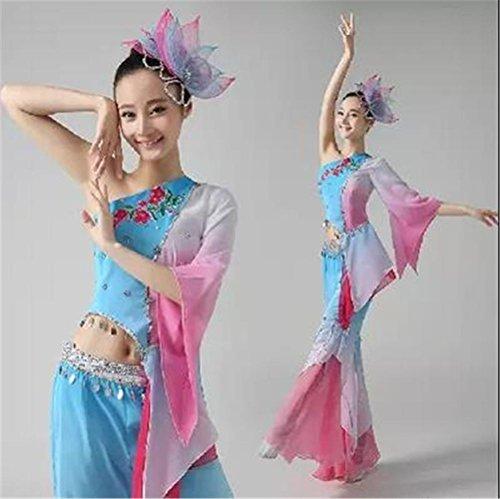 Frauen Volkstanz Performance Kleidung Anzug / klassischer Tanz / Choreographie Kostüm zeigen , (Tanz Choreographie Kostüme)