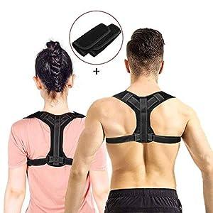 CAVN Adjustable Haltungskorrektur Rückenstütze für Herren Damen, Bodywellness Posture Corrector Lendenwirbelstütze Rückenstütze – Rücken, Schulter, Taille, Nackenschmerzen Relief Support