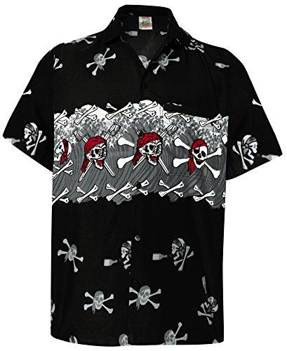 La Leela Short Sleeve Casual Formal Hawaiian Regular Fit Beach Shirt Aloha Tropical Holiday Front Pocket Printed Floral Button Down Dress Work Shirts for Men